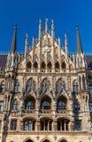 慕尼黑 新的城镇厅 库存照片