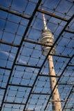 慕尼黑Olympiapark Fernsehturm 免版税库存照片