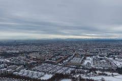 """慕尼黑†""""1月30日:慕尼黑鸟瞰图  库存图片"""