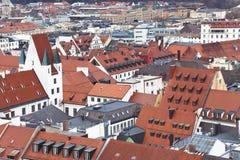慕尼黑。 德国。 巴伐利亚,从上面的看法 库存图片