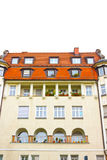 慕尼黑典型的住宅房子门面在巴伐利亚 免版税图库摄影