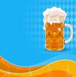 慕尼黑啤酒节啤酒背景 免版税库存图片