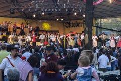 慕尼黑啤酒节在别墅贝尔格拉诺一般 免版税库存图片