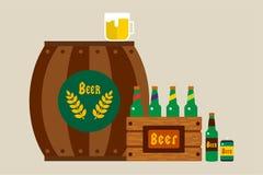 慕尼黑啤酒节庆祝传染媒介背景海报 免版税库存照片