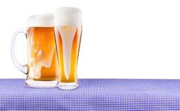 慕尼黑啤酒节庆祝背景用啤酒 免版税库存照片
