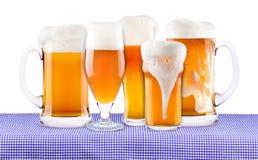 慕尼黑啤酒节庆祝背景用啤酒 免版税库存图片