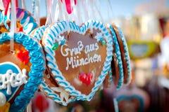 慕尼黑啤酒节心脏 库存图片