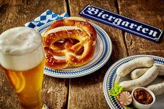 慕尼黑啤酒节的传统巴法力亚烹调 图库摄影