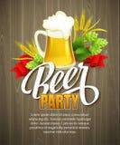 慕尼黑啤酒节背景用啤酒 海报模板 免版税库存照片