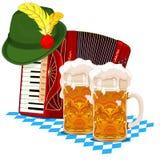 慕尼黑啤酒节设计 库存图片