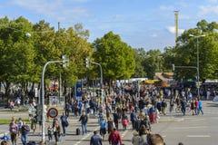 慕尼黑啤酒节2015年在慕尼黑,德国 库存图片