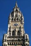 慕尼黑城镇厅时钟 库存照片
