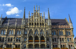 慕尼黑城镇厅 免版税库存图片