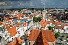 慕尼黑市中心看法  免版税库存照片