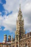 慕尼黑德国新的城镇厅 库存图片