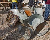 慕尼黑德国-露天巨型跳蚤市场 免版税库存图片