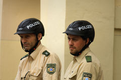 慕尼黑- 9月07 :德国联邦警察 库存图片