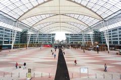 慕尼黑机场内部  库存图片