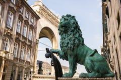 慕尼黑狮子雕象 免版税库存照片