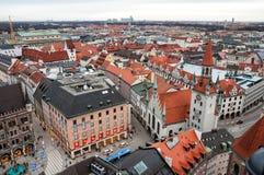 慕尼黑的鸟瞰图 库存照片