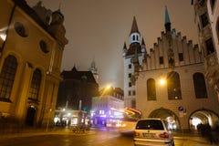 慕尼黑老城镇厅 免版税库存图片