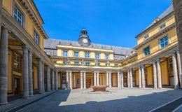 慕尼黑老大厦庭院 免版税库存照片