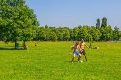 慕尼黑英国庭院公园 库存图片