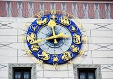 慕尼黑黄道带时钟 免版税库存图片