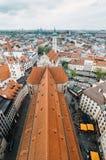 慕尼黑都市风景每多云天 库存图片