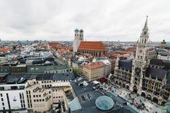 慕尼黑都市风景每多云天 免版税库存照片
