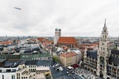 慕尼黑都市风景每多云天 免版税库存图片