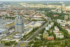 慕尼黑都市风景,巴伐利亚,德国 免版税库存图片