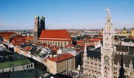 慕尼黑都市风景 免版税库存照片