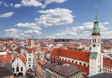 慕尼黑,德国,巴伐利亚,从上面的看法 库存图片