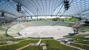 慕尼黑,德国, 2016年4月24日:奥林匹克体育场的看法在慕尼黑德国 免版税库存图片