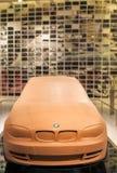 慕尼黑,德国2012年6月17日:在Sta的BMW第3个系列黏土模型 免版税库存照片