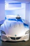 慕尼黑,德国2012年6月17日:BMW H2R氢供给动力的赛跑 免版税图库摄影