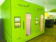 慕尼黑,德国- 2016年5月16日:Napcab睡觉客舱在机场 库存照片