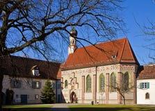 慕尼黑,德国- Blutemburg在XV世纪建造的城堡教会 图库摄影