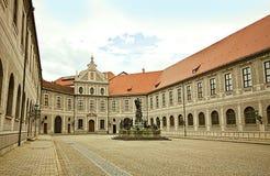 慕尼黑,德国- Brunnenhof -喷泉庭院,一te 免版税库存照片