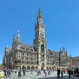 慕尼黑,德国Marienplatz广场的新市镇霍尔  库存图片