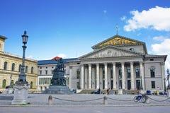 慕尼黑,最大约瑟夫广场的国家戏院 库存照片