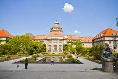 慕尼黑,植物园中央大厦春天 库存照片