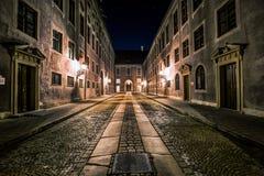 慕尼黑Oldtown在夜之前 免版税库存照片