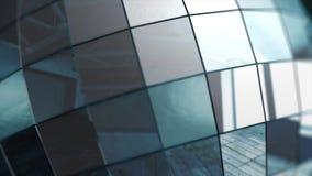 慢一个五颜六色的反射性迪斯科镜子球的特写镜头在模糊的色的背景 镜子球,动画 股票视频