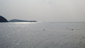 慢动作俯视阿穆尔湾的海视图 股票视频