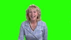 慢动作成熟妇女笑 股票录像