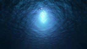 慢动作海洋水下的视图 无缝的使成环的背景 股票录像