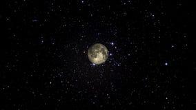 慢慢地接近的月亮 皇族释放例证
