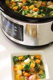 慢烹饪器材炖煮的食物 库存图片